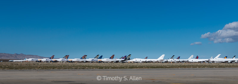 Pano of the 747 Graveyard