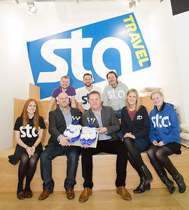 STA Travel. 35th Birthday. London Victoria Flagship Store. 6th January 2013.