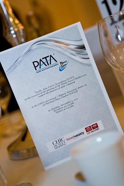 PATA Aligned Advocacy Dinner. 28 Portland Place. London. 4th November 2013
