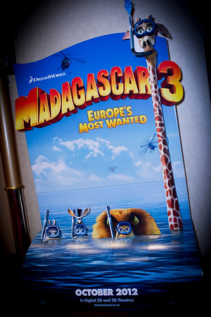 Royal Caribbean International Madagascar 3 Screening, Empire Leicester Square, 7th October 2012,