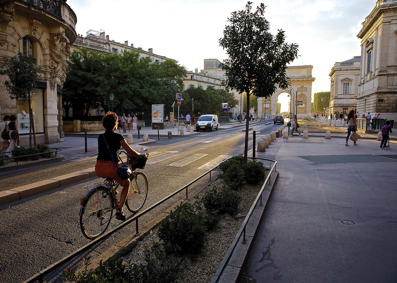 The Cyclist. Montpellier, France.