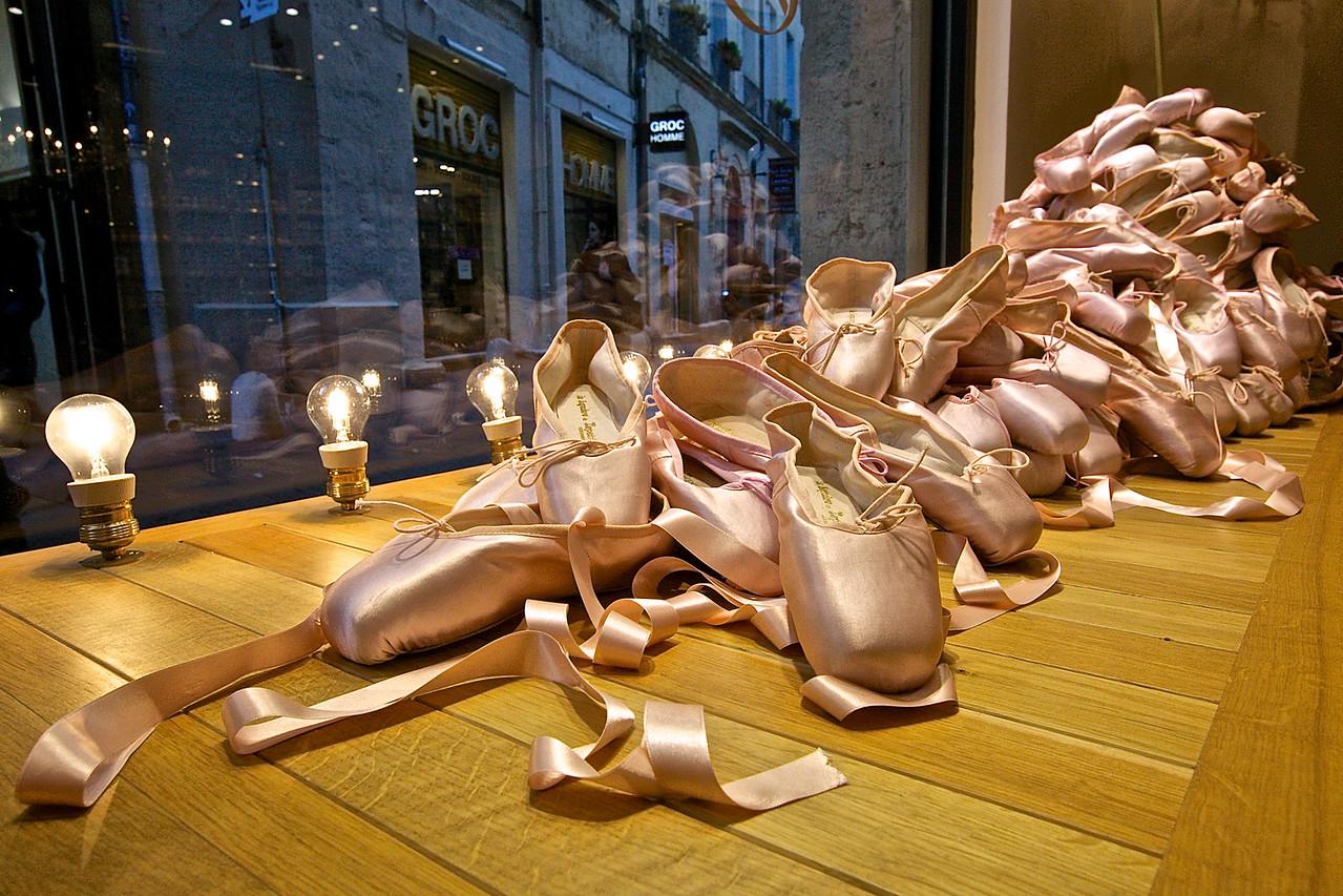 Ballet Shoes.  Montpellier, France