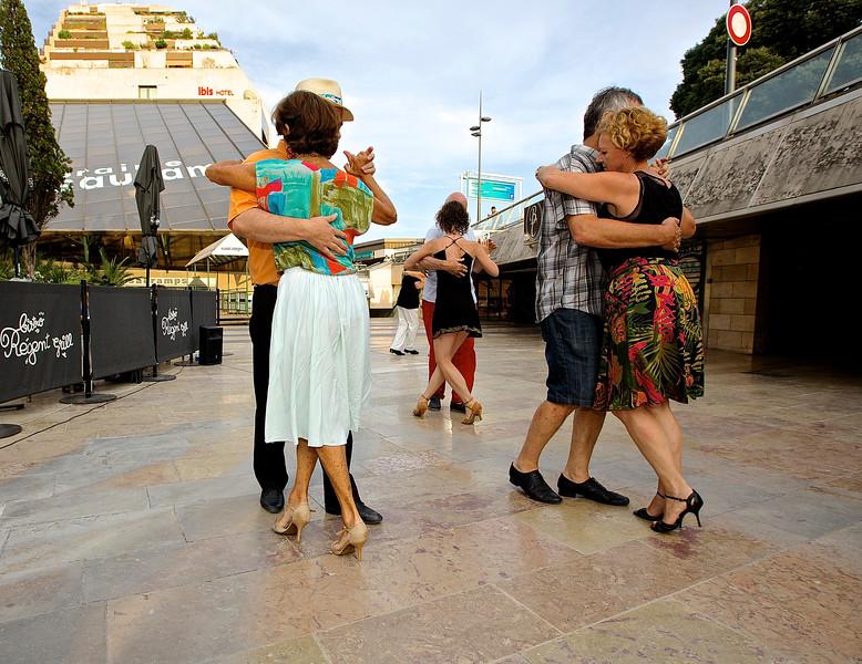 Tango Dancers.  Montpellier, France.