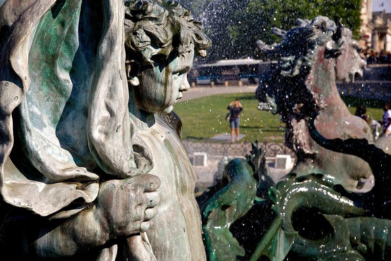 Heroic Cherub.  Bordeaux Fountain
