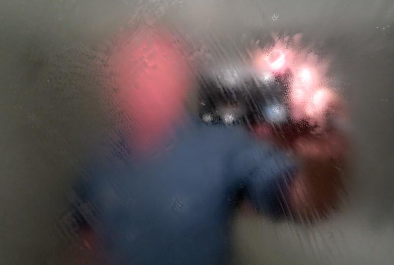 Selfie In A Bathroom Mirror.  Montpellier.