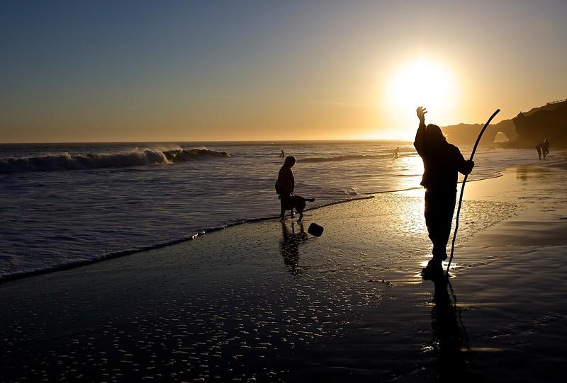 Mad Or Holy Man.  Santa Cruz Beach.
