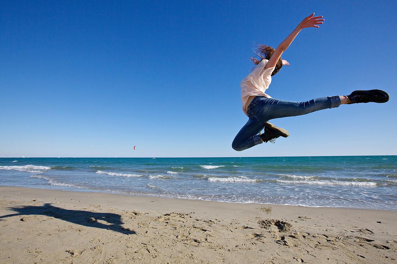 Joyful Dancer.  Palavas, France.