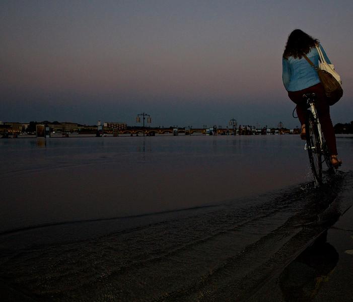 Girl On A Bike.  Bordeaux, France.