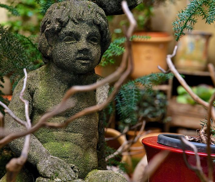 Garden Ornament.  Uzes, France.