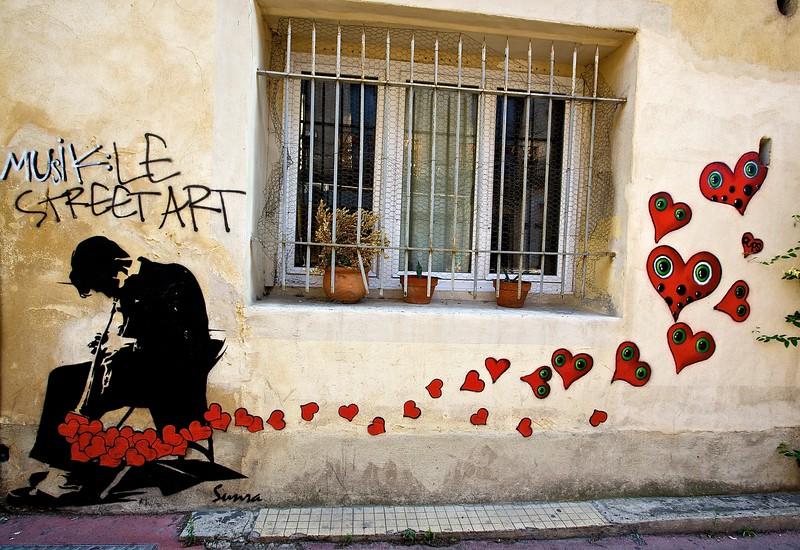 Musikle Street Art.  Montpellier, France.