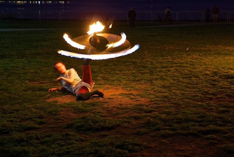 Fire Dancer.  Santa Cruz, California.