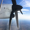 Prop jet view over South Africa
