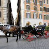 Horse drawn carriage, spotted in Rome, Italy.
