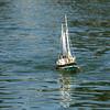 """A """"rag top"""" cruising along San Francisco's Spreckels Lake."""