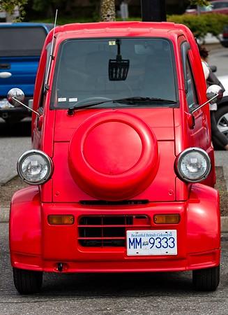 STRANGE RED TRUCK