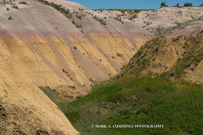 YELLOW DOME AREA OF THE BADLANDS OF SOUTH DAKOTA