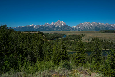 The Grand Tetons and the winding Snake River