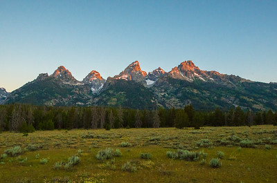 First Light Grand Tetons