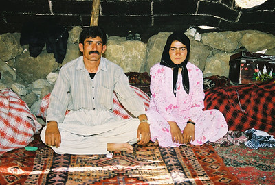 SOON TO BE BETROTHED Nomad Couple Dressed for the Occasion Nomad Tent Site, Iran