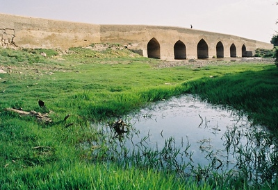 STILL STANDING 1,700 year old Bougerd Bridge. Near Oshtorinan, Iran