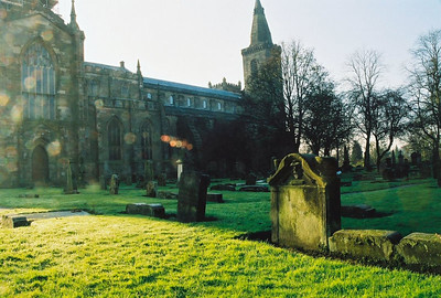 Burial Grounds in the shadow of Dunfermline Abbey.
