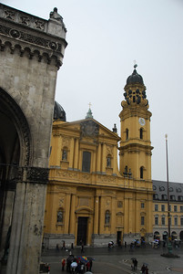 View of Theatiner Kirch from the Residenz Palace - Munich