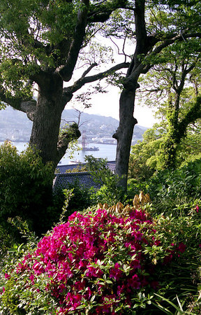 A view of Nagasaki Bay enjoyed by the privileged gaijin community so many years ago.
