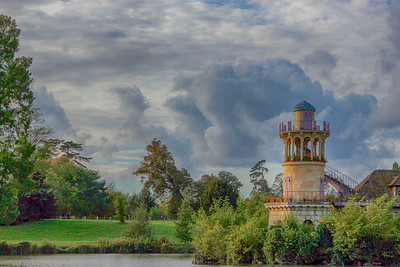 Queen Hamlet Tower in the Park of Versailles