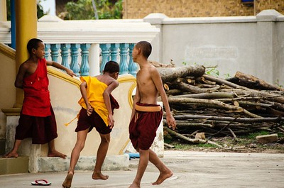 Young Monks At Play; Shwe Yan Pyay, Myanmar