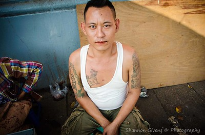 Tattooed Man; Yangon, Myanmar