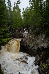 The waterfall at Cascade River State Park