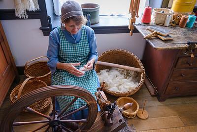 Making wool thread - Shaker Village, KY