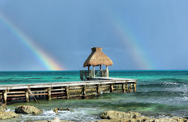 Double Rainbow - Playa Del Carmen, Mexico - Winter 2018