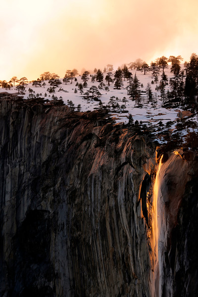 Firefall at Yosemite National Park - Feb 17, 2017