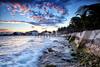 Ocean Seawall - Playa Del Carmen, Mexico