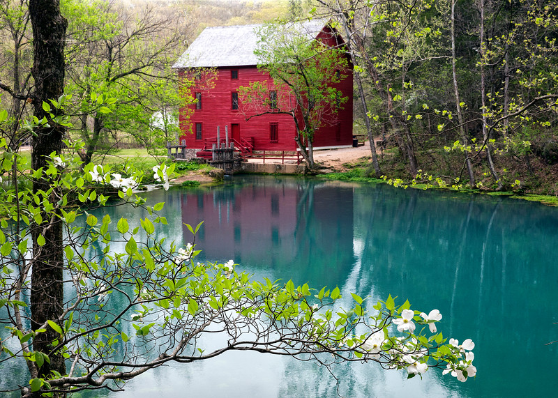 Alley Spring Mill in Spring - Ozark National Scenic Riverways - National Park in the Ozarks of southern Missouri in the U.S.- April 20, 2016