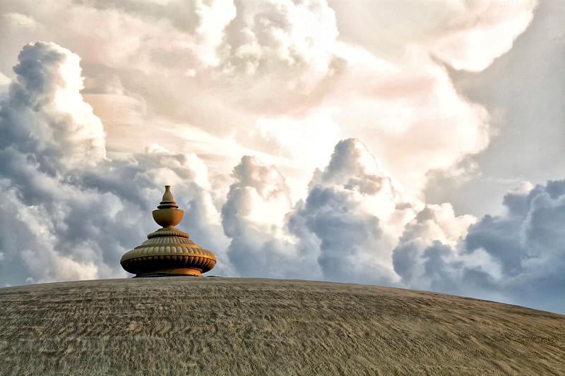 Golden Domes  Under a Stormy Sky - Fairfield IA Maharishi University
