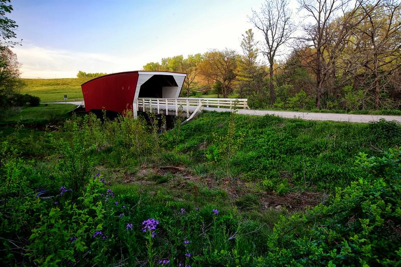 Cedar Covered Bridge -  Winterset, Iowa - Built 1883