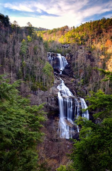 Upper Whitewater Falls at Sunset - North Carolina - Spring 2015