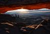 Sunrays Below a Sunburst - Canyonlands National Park - Moab, Utah