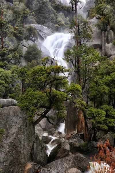 Upper Cascade Creek Falls  - Yosemite National Park - Winter Feb 2017