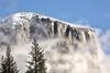 El Capitan in Snow and Fog - Yosemite National Park - Winter 2017