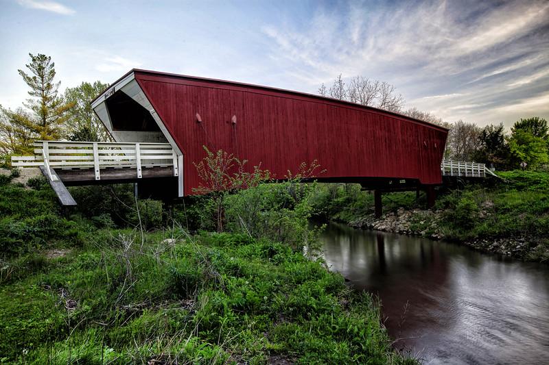 Cedar Covered Bridge -  Winterset, Iowa - 1883