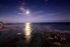 Moonlight on the ocean.
