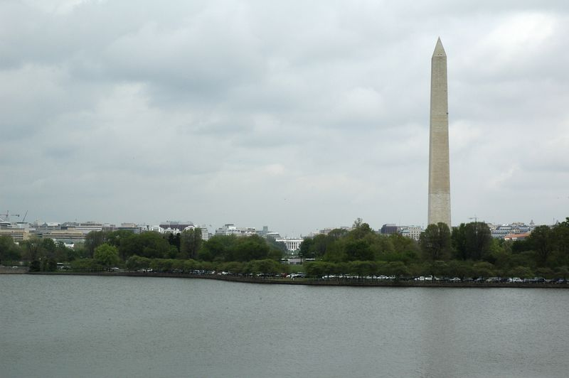 View of the Mall and the White House from the Jefferson Memorial