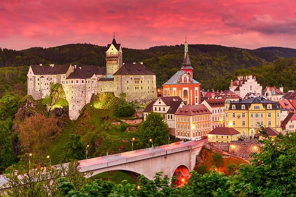 Loket Medieval Town And Castle, Czech Republic