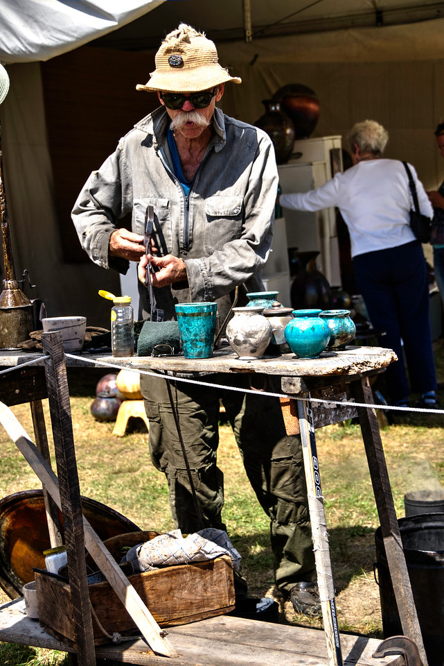 Pottery firing demonstration