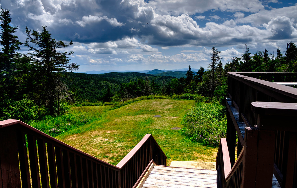 View the other way from the observation tower