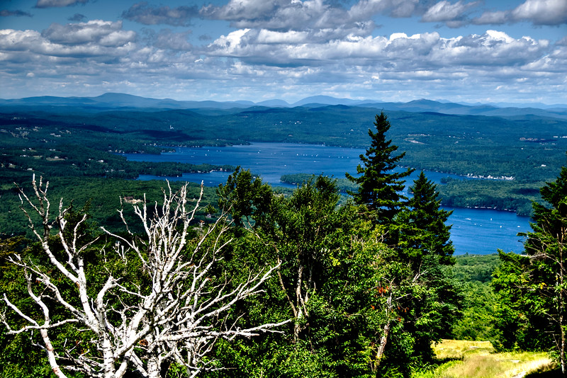 Lake Sunapee from a further vantage with the beautiful rolling hills in the background
