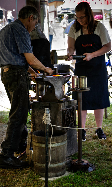 Blacksmith Demonstration with Audience Assistant